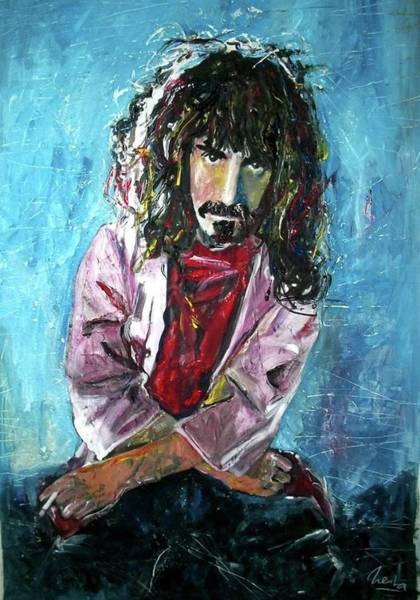 Frank Zappa Wall Art - Painting - Frank Zappa by Marcelo Neira