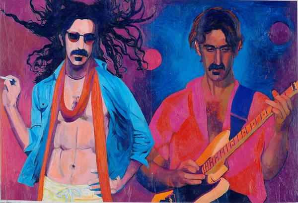 Frank Zappa Wall Art - Pastel - Frank Zappa by Martin Cohen