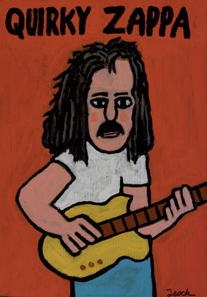 Frank Zappa Painting - Frank Zappa by Mike Tesch