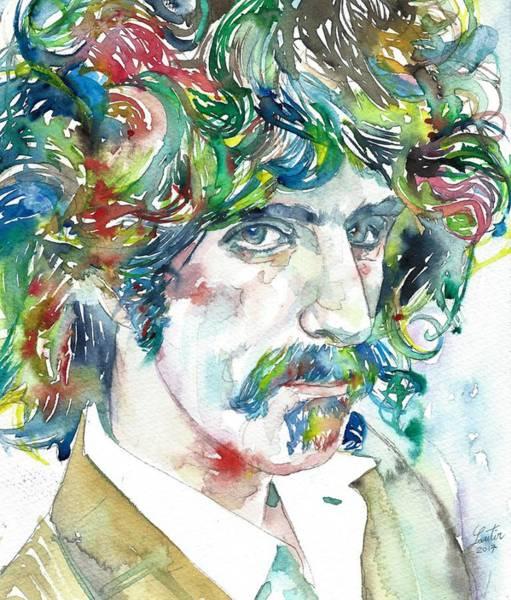 Frank Zappa Painting - Frank Zappa Portrait by Fabrizio Cassetta