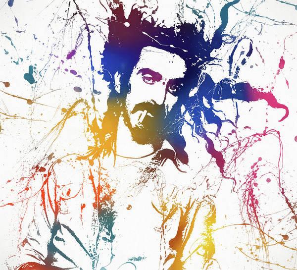 Wall Art - Painting - Frank Zappa Splatter by Dan Sproul