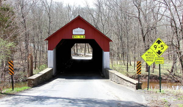 Photograph - Frankenfield Covered Bridge by Ken Keener
