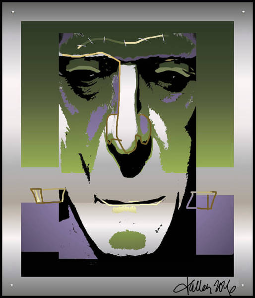 Digital Art - Frankenstein Monster by Larry Talley
