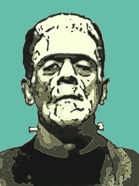 Anaglyph Photograph - Frankensteins Monster Karloff Comic by Joy McKenzie