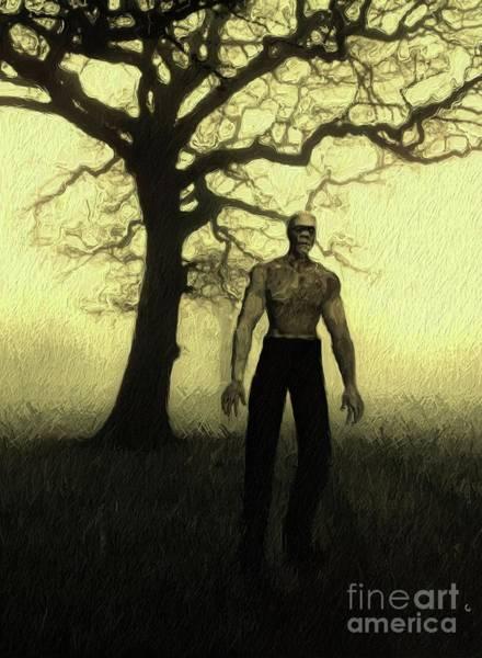 Frankenstein Painting - Frankenstein's Monster by Mary Bassett