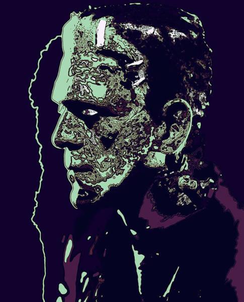 Digital Art - Frankensteins Monster Side View 2 by Joy McKenzie