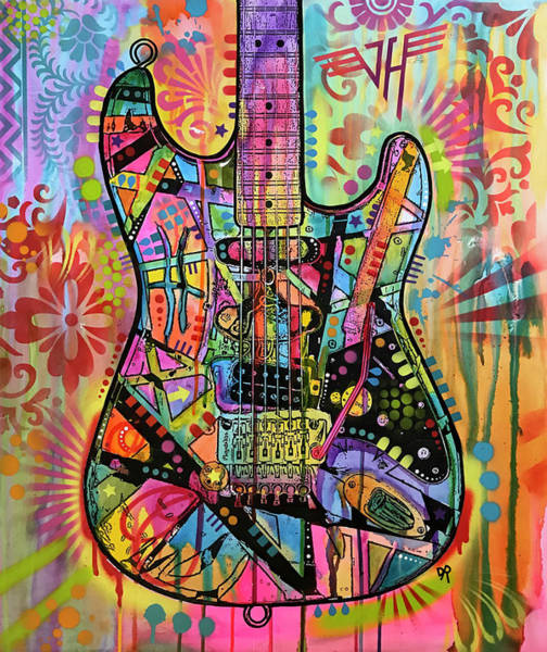Wall Art - Painting - Frankenstrat by Dean Russo Art