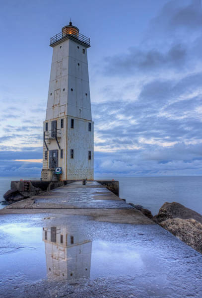Two Harbors Photograph - Frankfort Lighthouse by Twenty Two North Photography