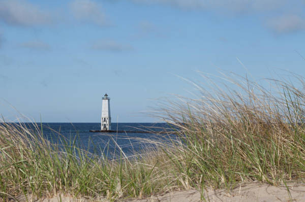 Photograph - Frankfort North Breakwater Lighthouse by Fran Riley
