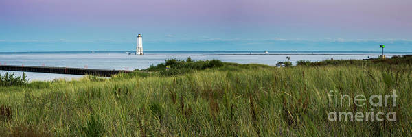 Wall Art - Photograph - Frankfort North Breakwater Panorama From Elberta  by Twenty Two North Photography
