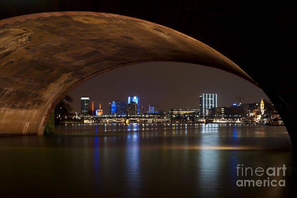 Frankfurt By Night Art Print