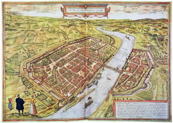 Photograph - Frankfurt, Germany, 1572 by Granger