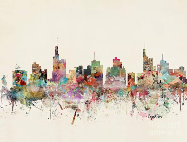 Frankfurt Wall Art - Painting - Frankfurt Germany Skyline by Bri Buckley