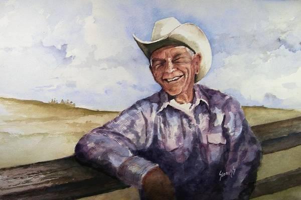 Cowboys Wall Art - Painting - Frankie by Sam Sidders
