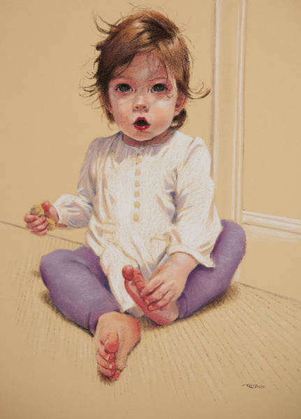 Pastel - Frankie Sitting by Christopher Reid