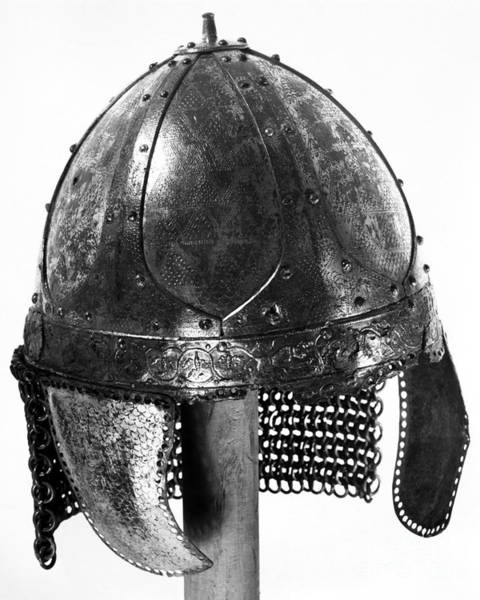Painting - Frankish Helmet, C600 A.d by Granger