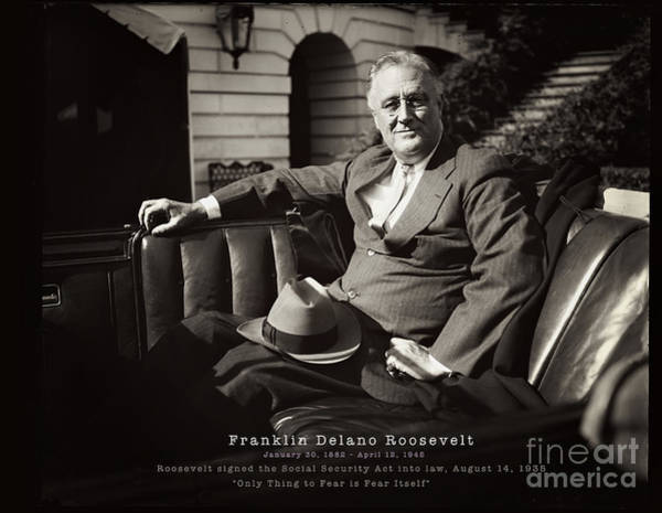 Photograph - Franklin Delano Roosevelt by Carlos Diaz