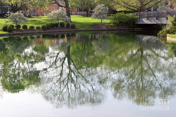 Photograph - Franklin Park Reflections by Karen Adams