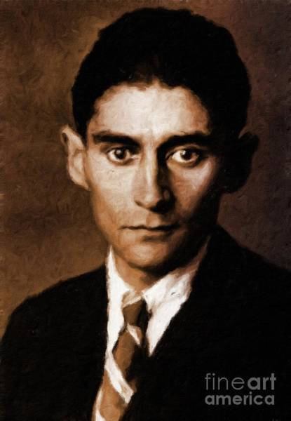 Poetry Painting - Franz Kafka, Literary Legend By Mary Bassett by Mary Bassett