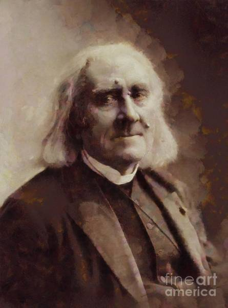 Poetry Painting - Franz Liszt, Composer By Sarah Kirk by Sarah Kirk