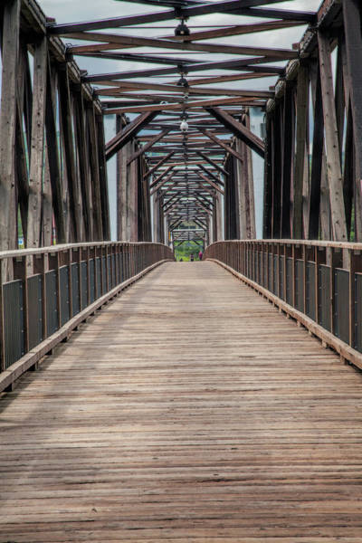Photograph - Fraser River Footbridge by Jacqui Boonstra