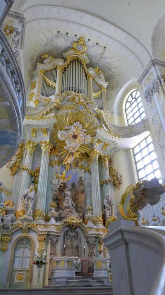 Photograph - Frauenkirche Interior1 by Herb Paynter