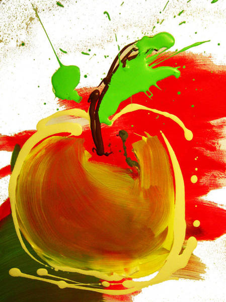 Primary Colors Mixed Media - Freaking Apple by Michael De Alba