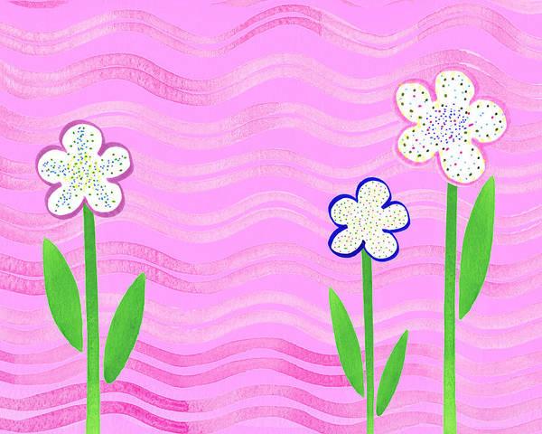 Painting - Freckled Flowers In The Garden by Irina Sztukowski