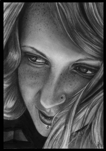 Wall Art - Drawing - Freckled In The Wind by Alycia Ryan