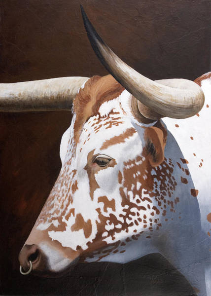 Cowhide Wall Art - Painting - Freckles by Gaylon Dingler