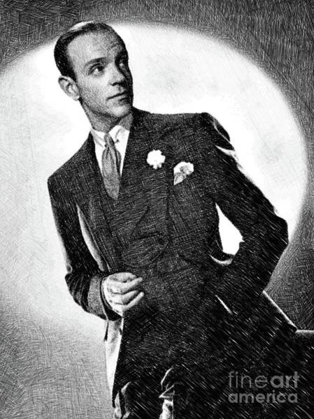 Dancer Drawing - Fred Astaire, Legend By Js by John Springfield