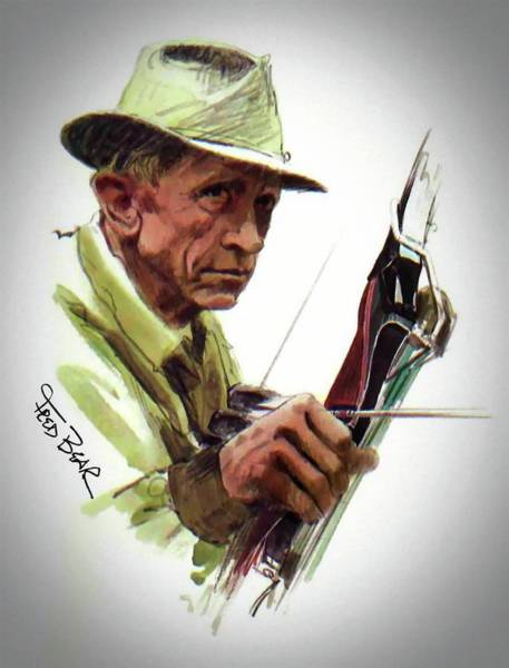 Mixed Media - Fred Bear Archery Hunting Bow Arrow Sport Target by Movie Poster Prints