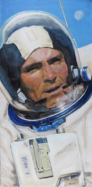 Nasa Wall Art - Painting - Fred Haise by Simon Kregar