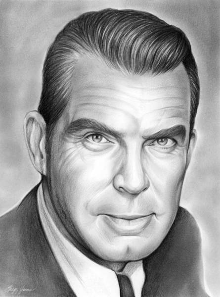 Drawing - Fred Macmurray by Greg Joens
