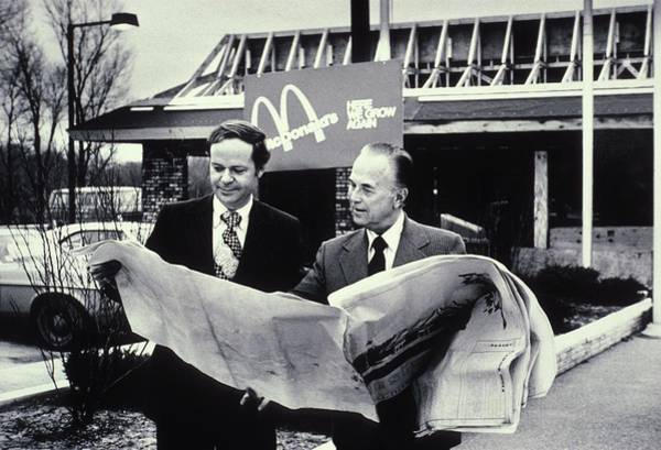 Wall Art - Photograph - Fred Turner And Ray Kroc The Executive by Everett