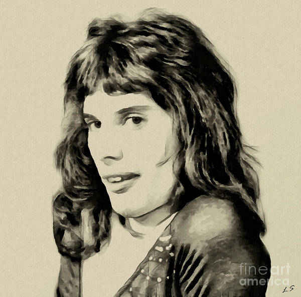 Glam Rock Drawing - Freddie Mercury Collection - 3 by Sergey Lukashin