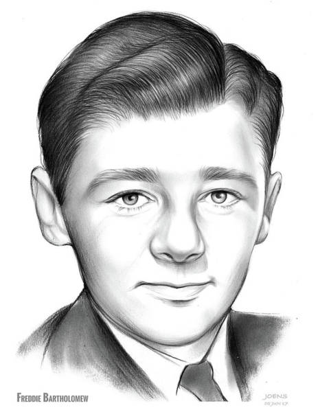 Drawing - Freddie Bartholomew by Greg Joens