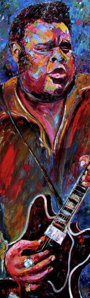 Wall Art - Painting - Freddie King by Debra Hurd