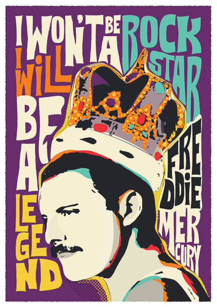Are Digital Art - Freddie Mercury Pop Art Quote by BONB Creative