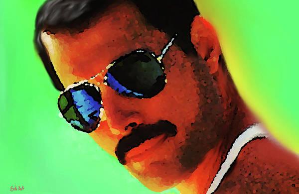 Moustache Mixed Media - Freddie Mercury R I P  by Enki Art