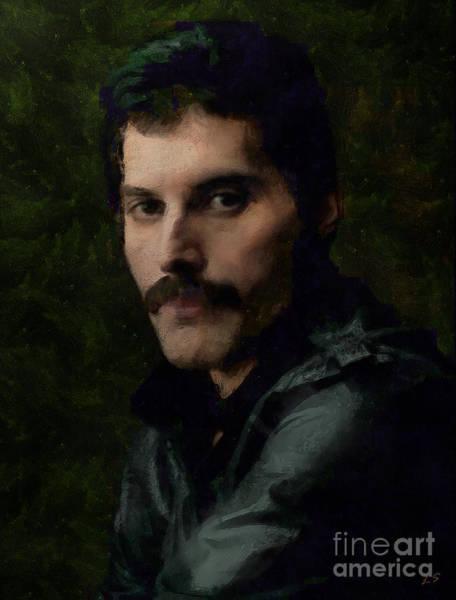 Progressive Rock Painting - Freddie Mercury Collection - 4 by Sergey Lukashin