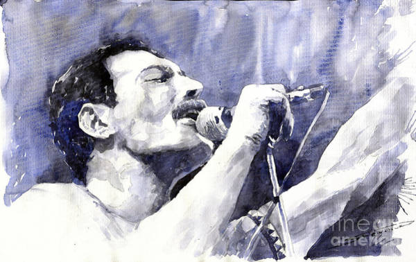 Figurative Wall Art - Painting - Freddie Mercury by Yuriy Shevchuk