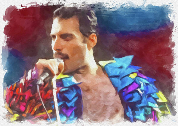 Wall Art - Digital Art - Freddie by Ricky Barnard