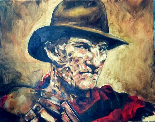 Nightmare On Elm Street Painting - Freddy by Korri Myers