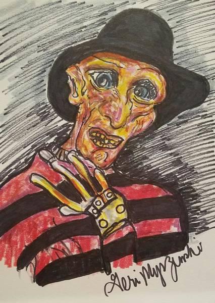 Nightmare On Elm Street Painting - Freddy Krueger by Geraldine Myszenski
