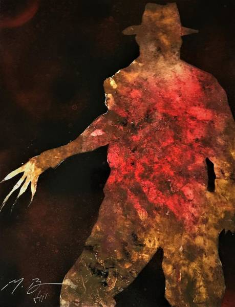 Nightmare On Elm Street Painting - Freddy Krueger by Michael Bergman