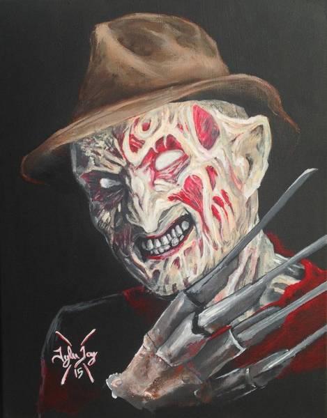 Nightmare On Elm Street Painting - Freddy's Back by Tyler Haddox