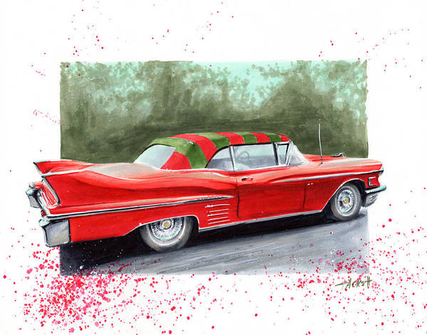 Nightmare On Elm Street Painting - Freddy's Cadillac by Billy Tackett