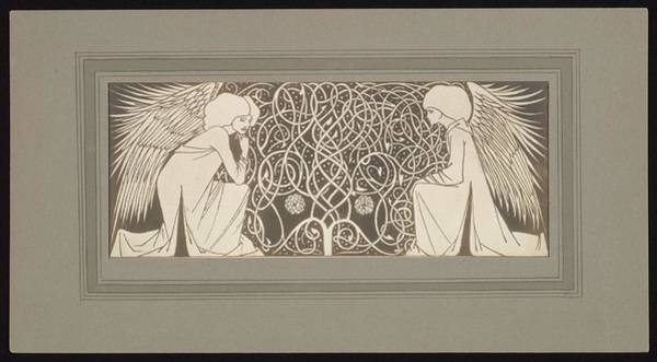 Wall Art - Painting - Frederick H. Evans, British, London 1853-1943 London, Angels With Interlace by Frederick H Evans