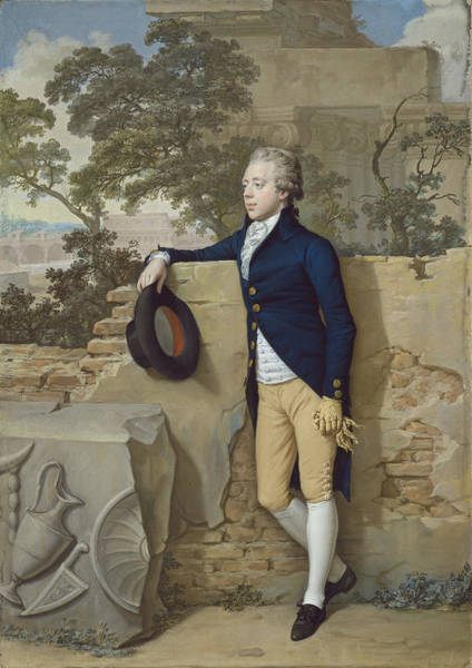 Douglas Drawing - Frederick North - Later Fifth Earl Of Guilford - In Rome by Hugh Douglas Hamilton